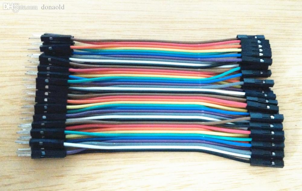 Wholesale-in Row Dupont Cable 10cm 2.54mm 1pin 1p-1p Female to Male ...