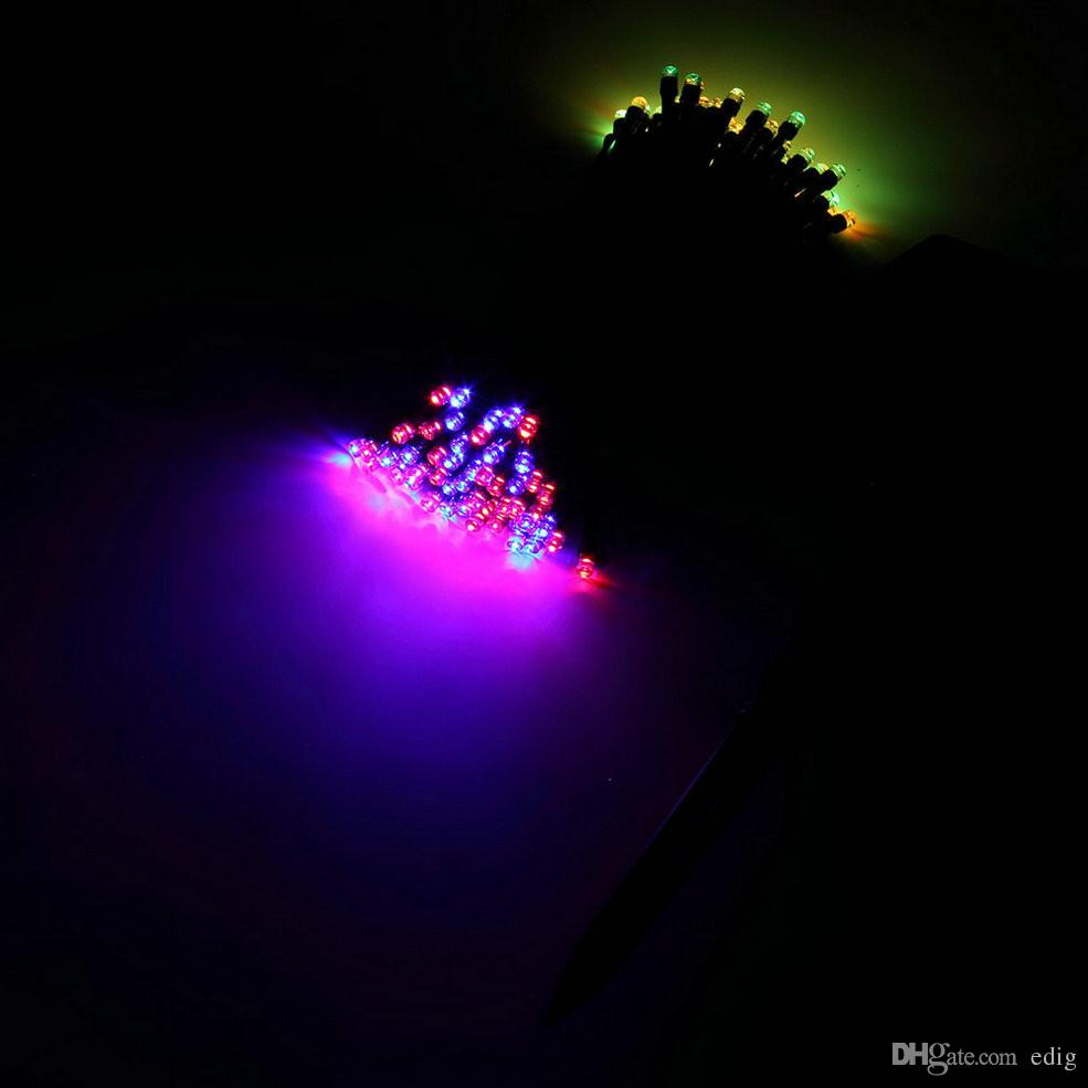 100 LED 야외 다채로운 태양 램프 LED 문자열 조명 요정 휴일 크리스마스 파티 Garlands 태양 정원 방수 조명