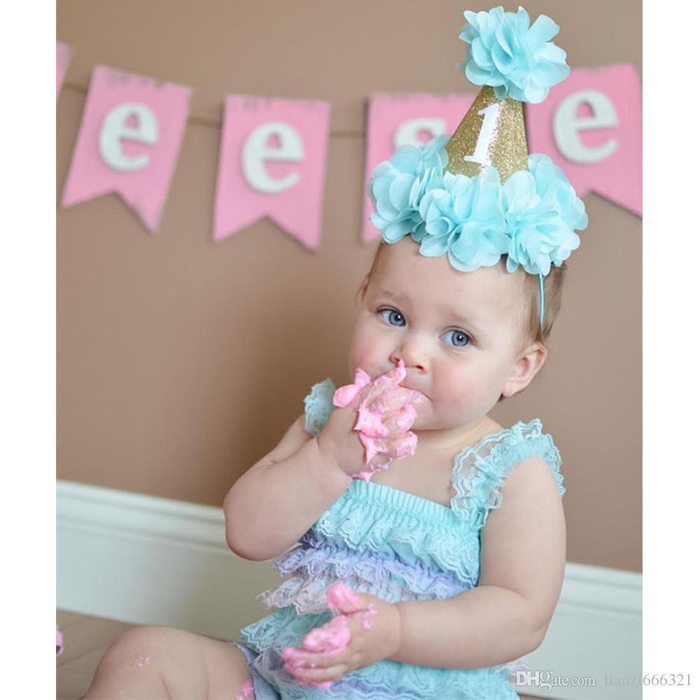 Baby Girls First 1st Birthday Party Hat Headband Cake Smash Prop Photo  Outfit NEW! Girls Crown Headband HJ126 Canada 2019 From Lianzi666321 0cbd36e361f