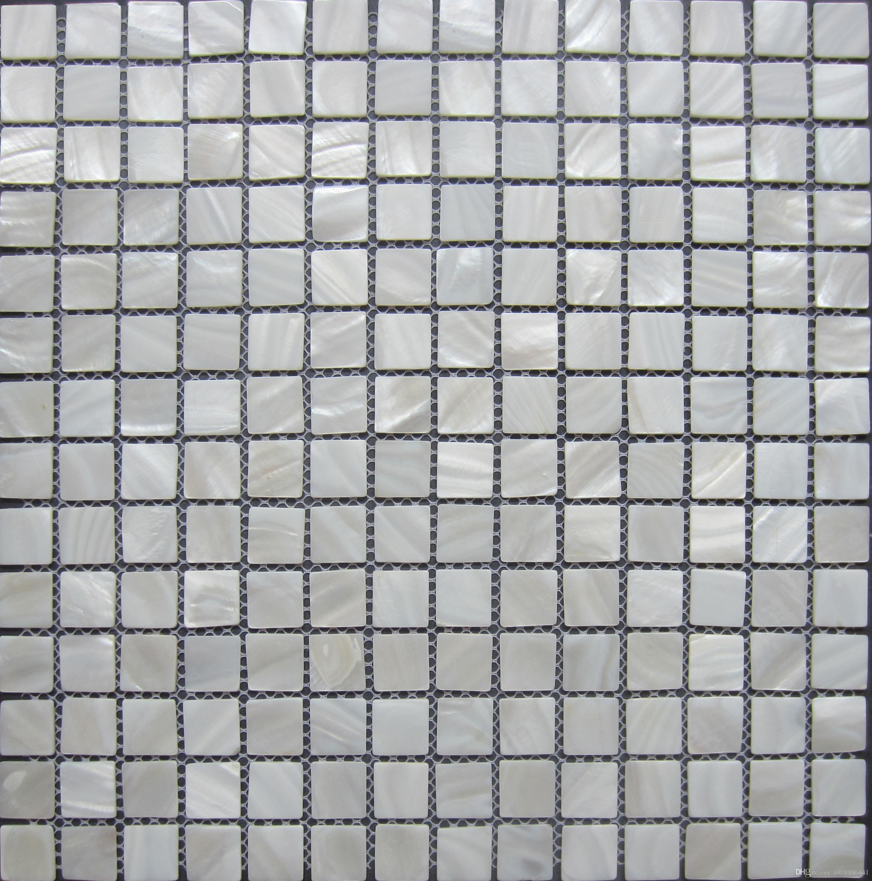 Online Cheap Lustre Mosaico Wall Tiles; Pure White Mother Of Pearl ...