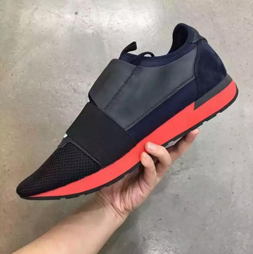 Mit Box Billig Sneaker Hohe Qualität Nude Blau Schwarz Rot Weiß Race Runner Freizeitschuh Mann Frau Mode Marke Low Cut Lace Up Mesh Trainer