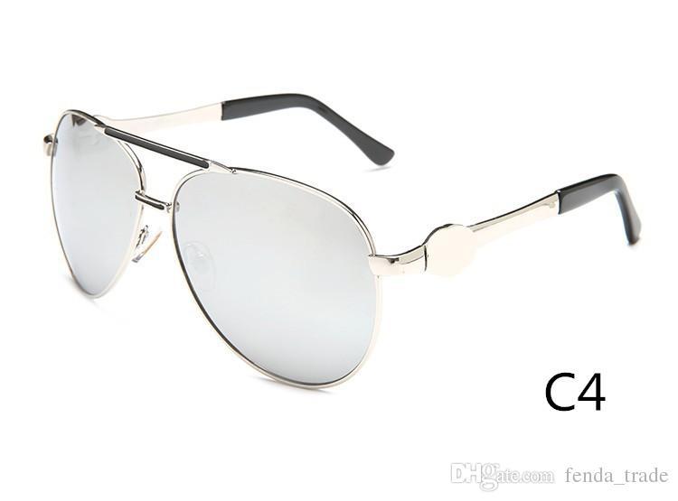 Marque hommes et femmes rétro lunettes de soleil nouvelle couleur lumineux métal lunettes de soleil de haute qualité grand cadre lunettes de soleil 3179 couleurs 10 Qualité A +++ M0Q = 10