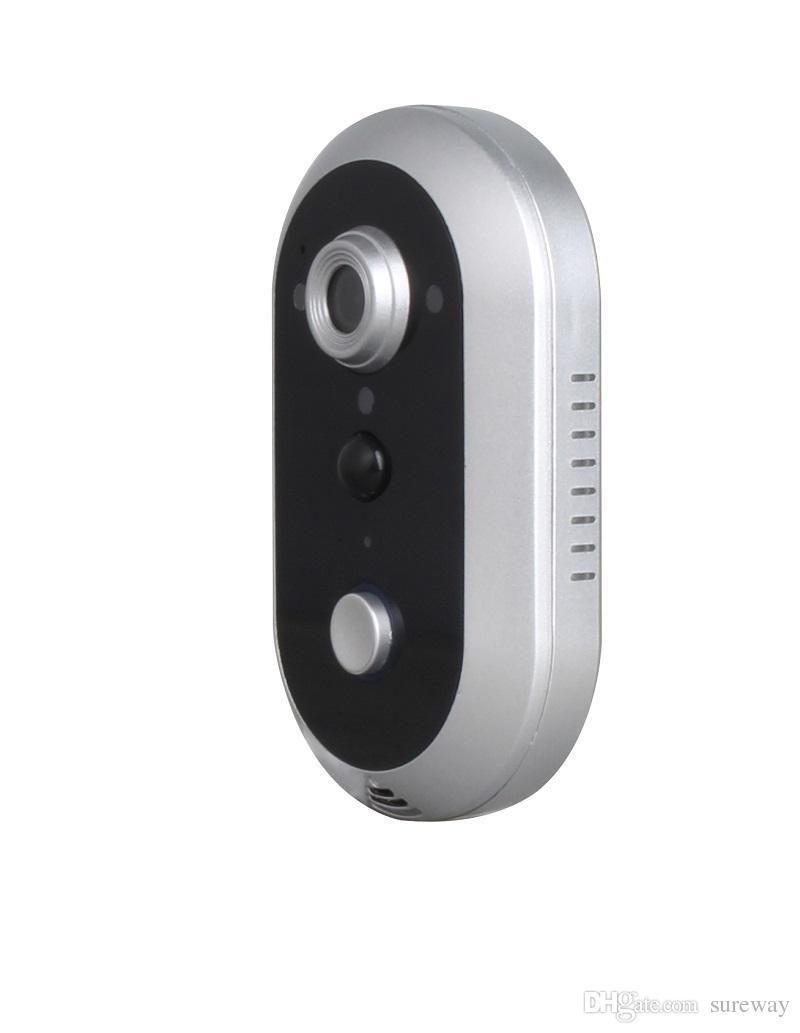 2019 حار بيع 1280x720 وعاء hd اللاسلكية wifi كاميرا الجرس + داخلي بيل + فيديو باب الهاتف إنترفون للماء ip65 للهواتف الذكية