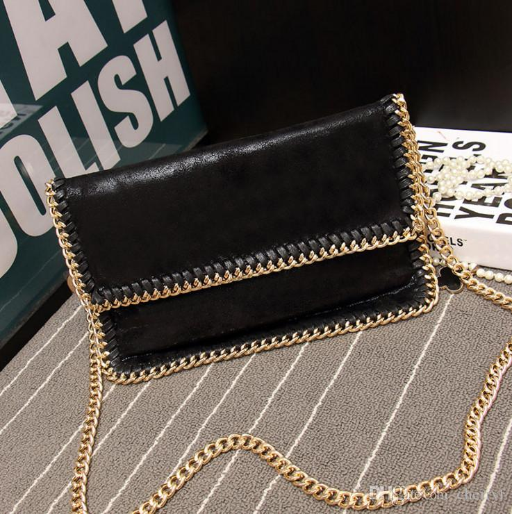 26273bff07d2 PU Folder Bags Designer Handbags for Women Copy Leather Shoulder Bags with Chain  Versatile party clutches