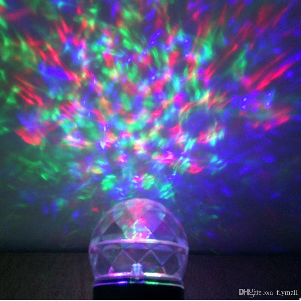 Rotating Led Disco Magic Ball For Christmas Halloween Children Room