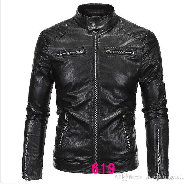 hommes de cuir chaud 2016 haut de gamme hommes Slim cuir veste en cuir moto marée coréenne grands chantiers Différents styles