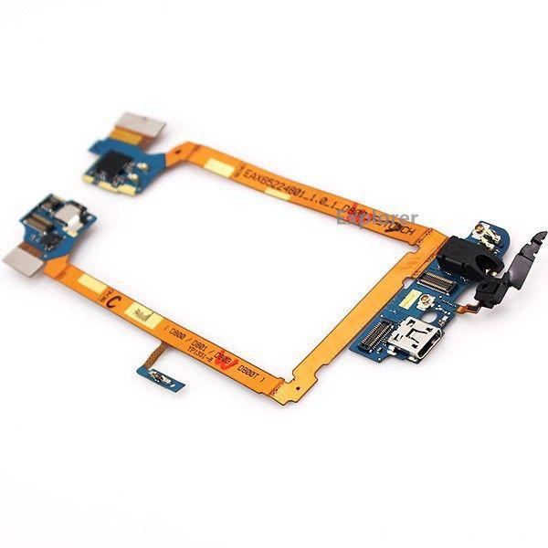 Orijinal LG Optimus G2 D800 D801 D803 D802 D805 VS980 Dock konnektörü şarj şarj portu USB Kulaklık jakı Mikrofon Ana Flex Kablo