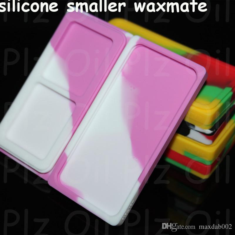 boxes wholesale Nonstick Wax Containers 6 in 1 titanium nail silicone small waxs mate pad fit glass pipes