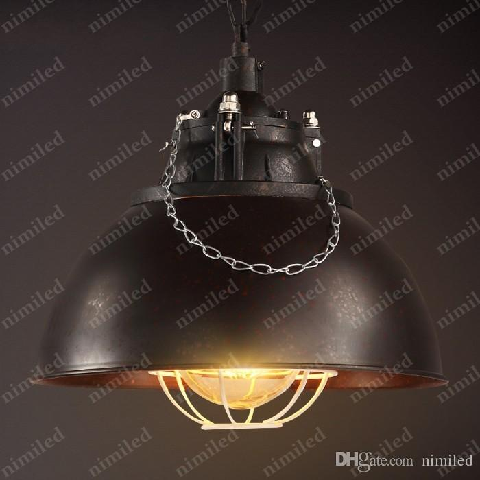 nimi799 5-Colors Loft Industrial Style Retro Nostalgia American Cafe Clothing Chandelier Wrought Iron Bar Pendant Lamp Hotel Lighting