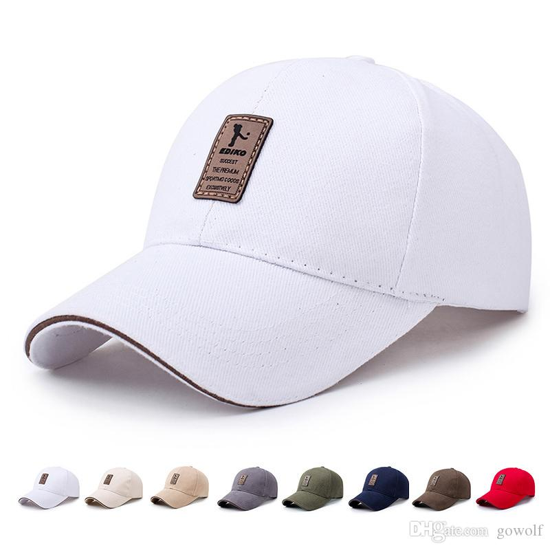 5b346c0b2e1 2019 Fashion Baseball Cap Men S Snapback Adjustable Cap Casual Leisure Hats  Solid Color Summer Fall Hat For Outdoor Camping Hiking From Gowolf