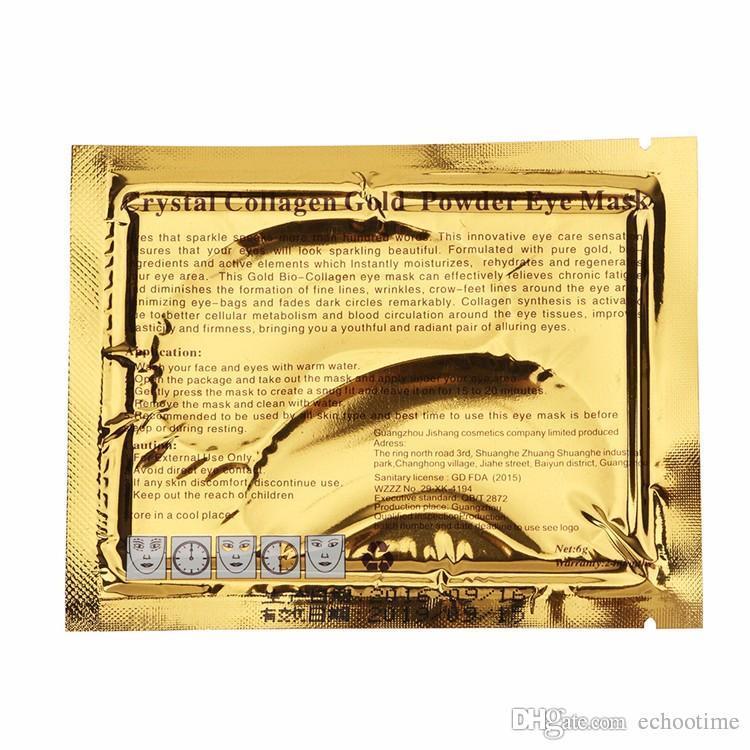 Echootime Nouveau Cristal Collagène or poudre masque pour les yeux D'or masque bâton à cernes es DHL Livraison gratuite