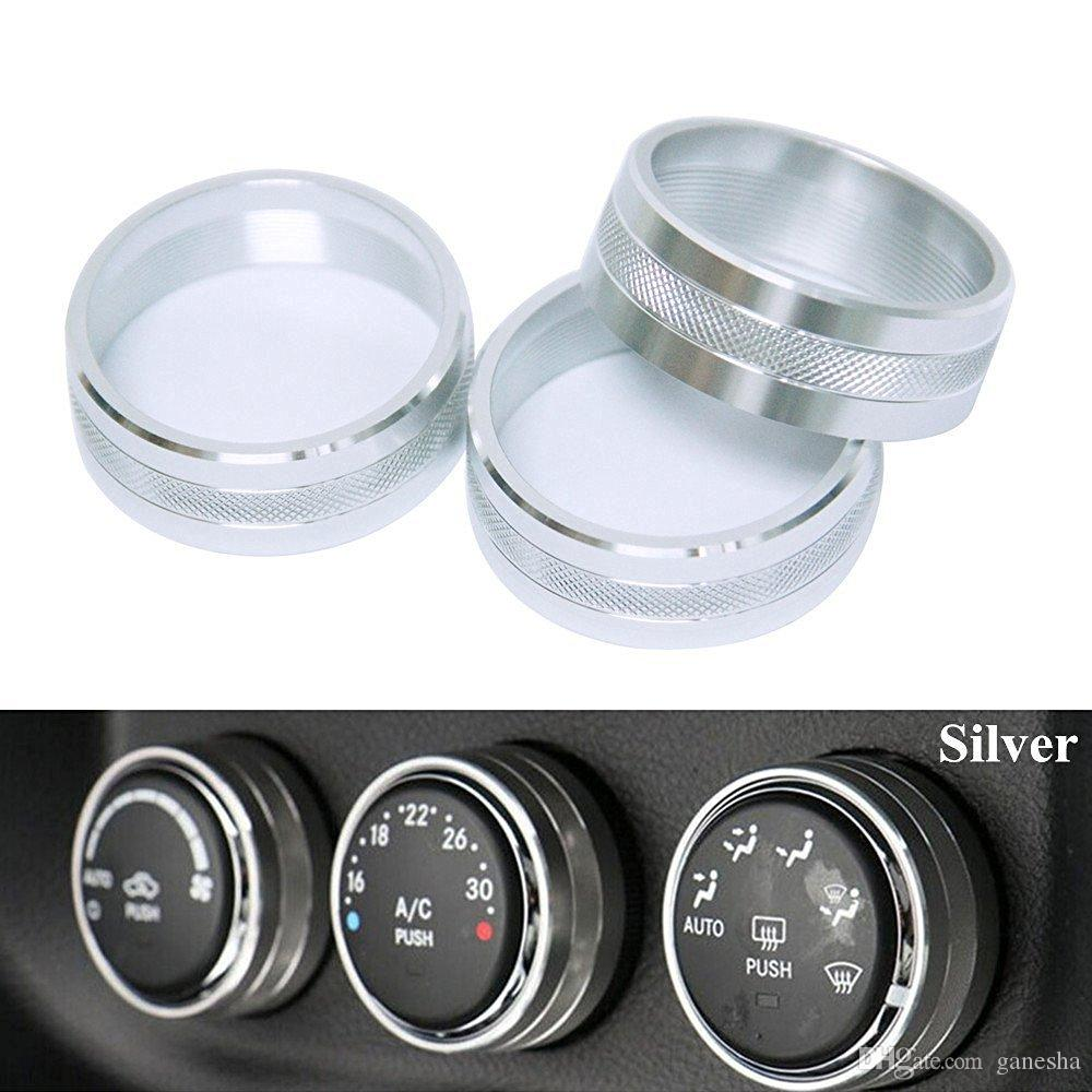 Silver Interior Air Condition Outlet Vent Switch Cover Trim For Jeep Wrangler Jk Dash Switches Compass 2007 2016 Dashboard Decorations Car Decorate From