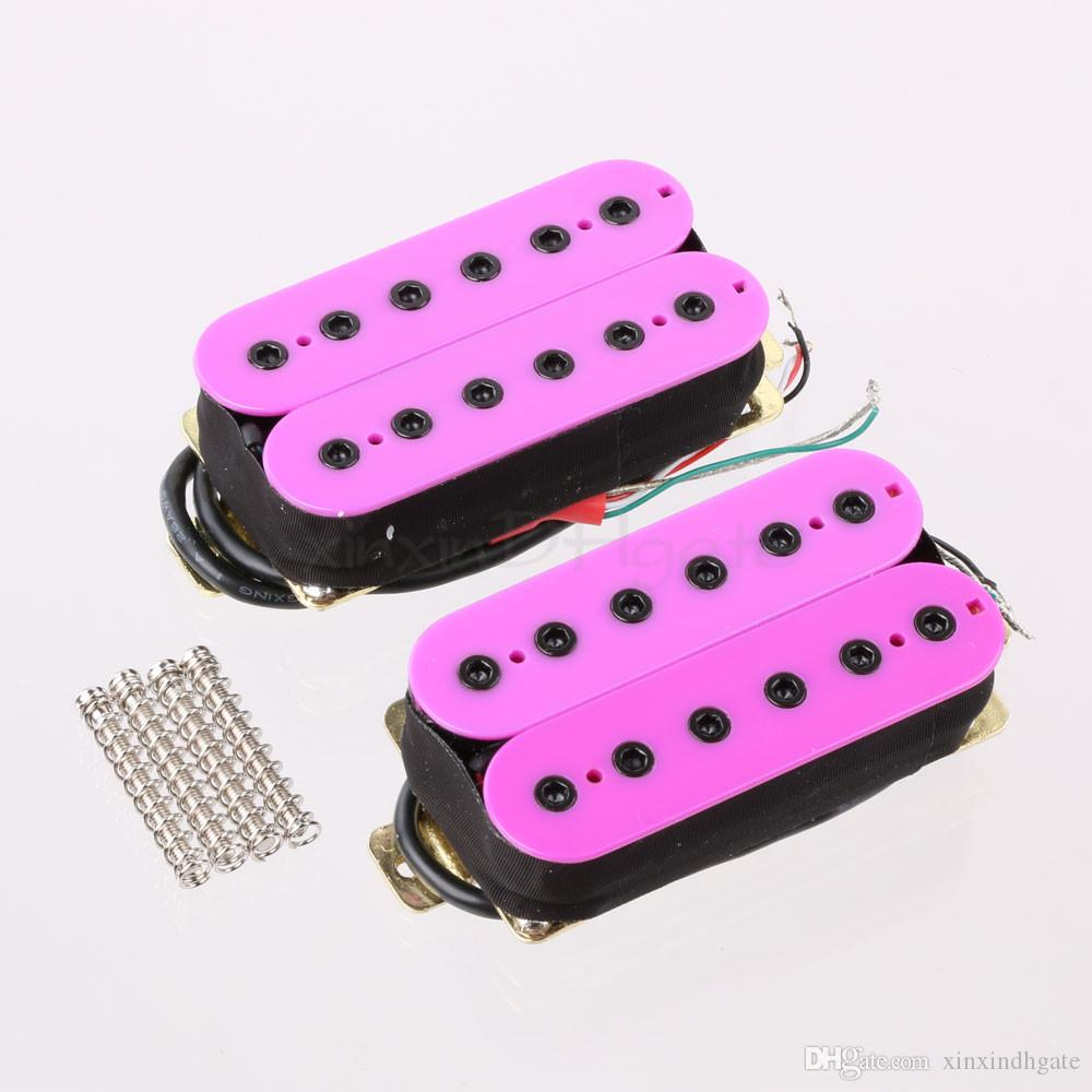 Purple Hexbucker Humbucker Pickup Set, Bridge and Neck para HH Electric Guitar