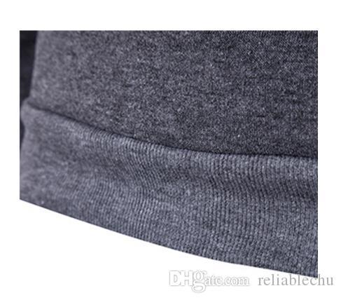Quilting Hoodie Männer 2018 Patchwork PU-Leder-Reißverschluss-Entwurfs-Normallack-Pullover Mens Hoodies O Neck Freies Schiff 2017 Fashion Brief Stil