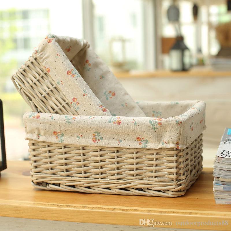 2018 Rattan Wicker Storage Baskets,Rattan Bamboo Basket ,Pastoral Clothes  Storage Basket,Kitchen Bathroom Storage Basket,New Christmas Gift From ...