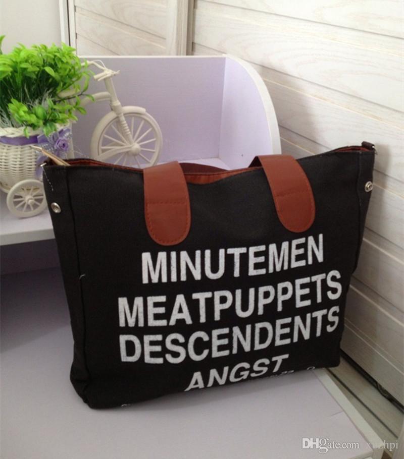 Новая внешняя торговля оптовая письма многоцелевой холст сумка одно плечо женская рука наклонные сумка