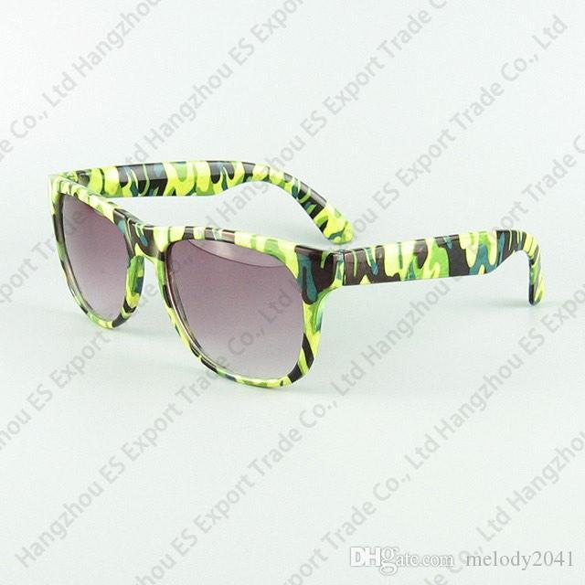 Kinder Sonnenbrille Reisende Rahmenschatten Tarndruck CS PLAY BILDLASS COOL Fashion UV400 Schutz 6 Farben
