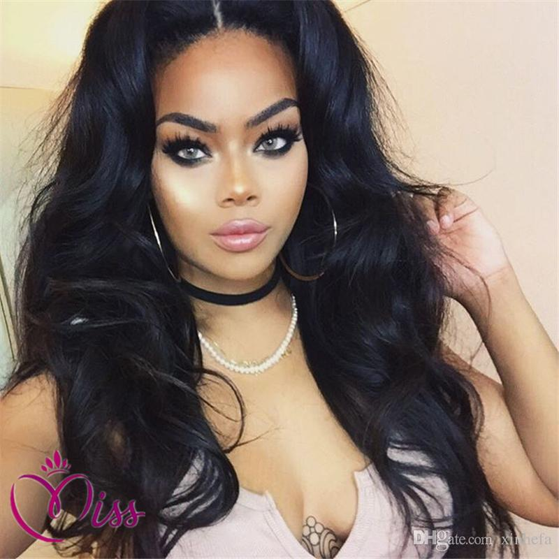 100% Unprocessed Brazilian real Human Hair Full Lace Wig With Baby Hair 150% Density Natural Wave Glueless Wavy Lace Front Wigs