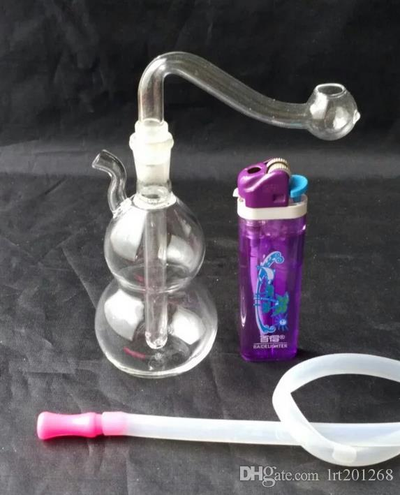 Bongos de vidro mini - tubo de fumar hookah de vidro Gongos de vidro - bongos de equipamentos de petróleo cachimbo de água cachimbo de água - vaporizador vaporizador