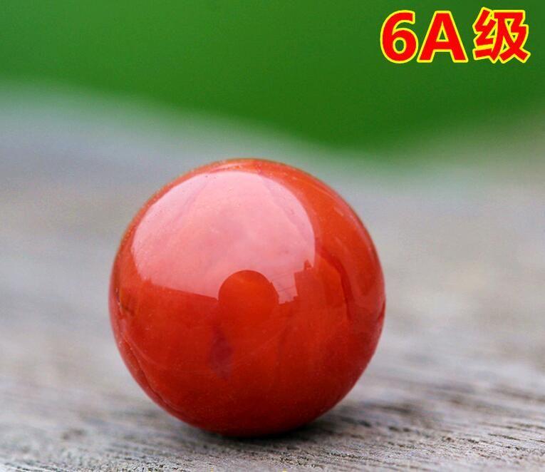 6A 옥수 느슨한 구슬 원석 전체 육체 불꽃 입자 빨간색 팔찌 문자열 골치 아픈 건 DIY 쥬얼리 액세서리