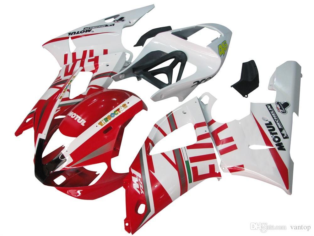 Комплект для литья рамы мотоцикла для полного обтекателя кузова для YZF1000 YZF R1 2000 2001 Синий Белый