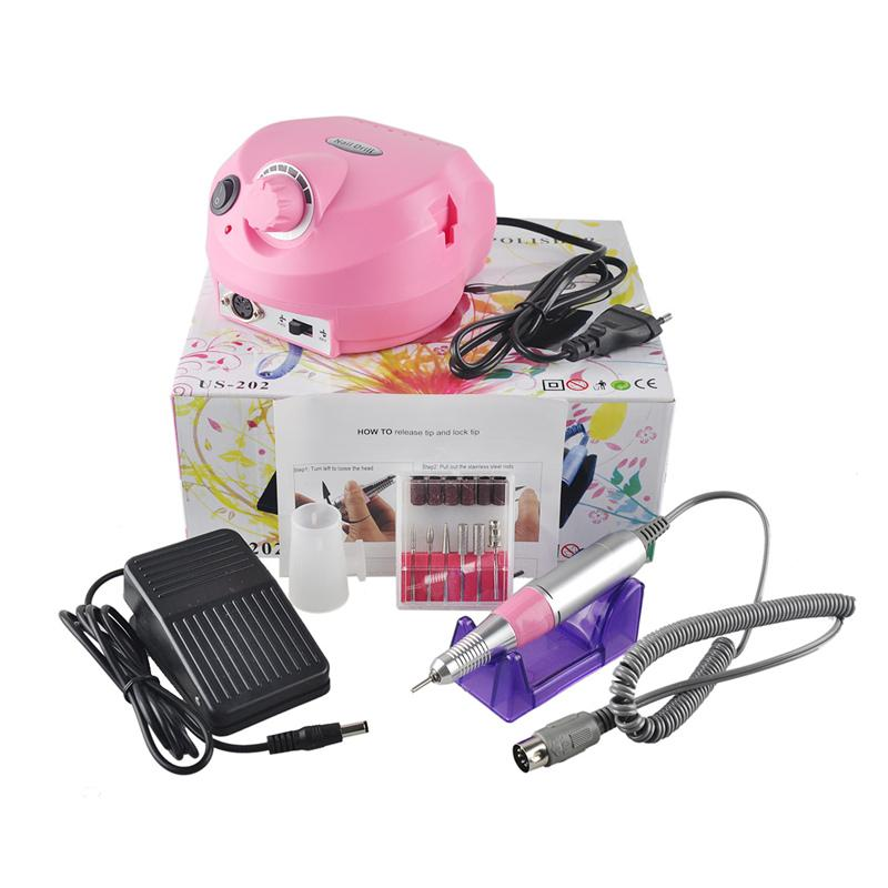 110/220 V 30000 RPM Pro Elektrikli Nail Art Matkap Dosya Uçları makine Manikür Seti Profesyonel Salon Ev Tırnak Araçları Set 0603032