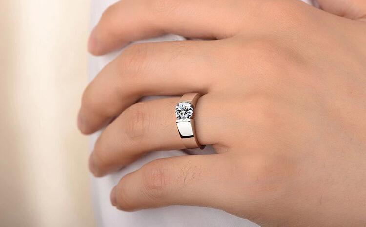 Klassische Engagement 925 Silber Ring Männer 18 Karat echtes Weißgold vergoldet Pfeile CZ Diamant Liebhaber versprechen Ring für Männer Frauen