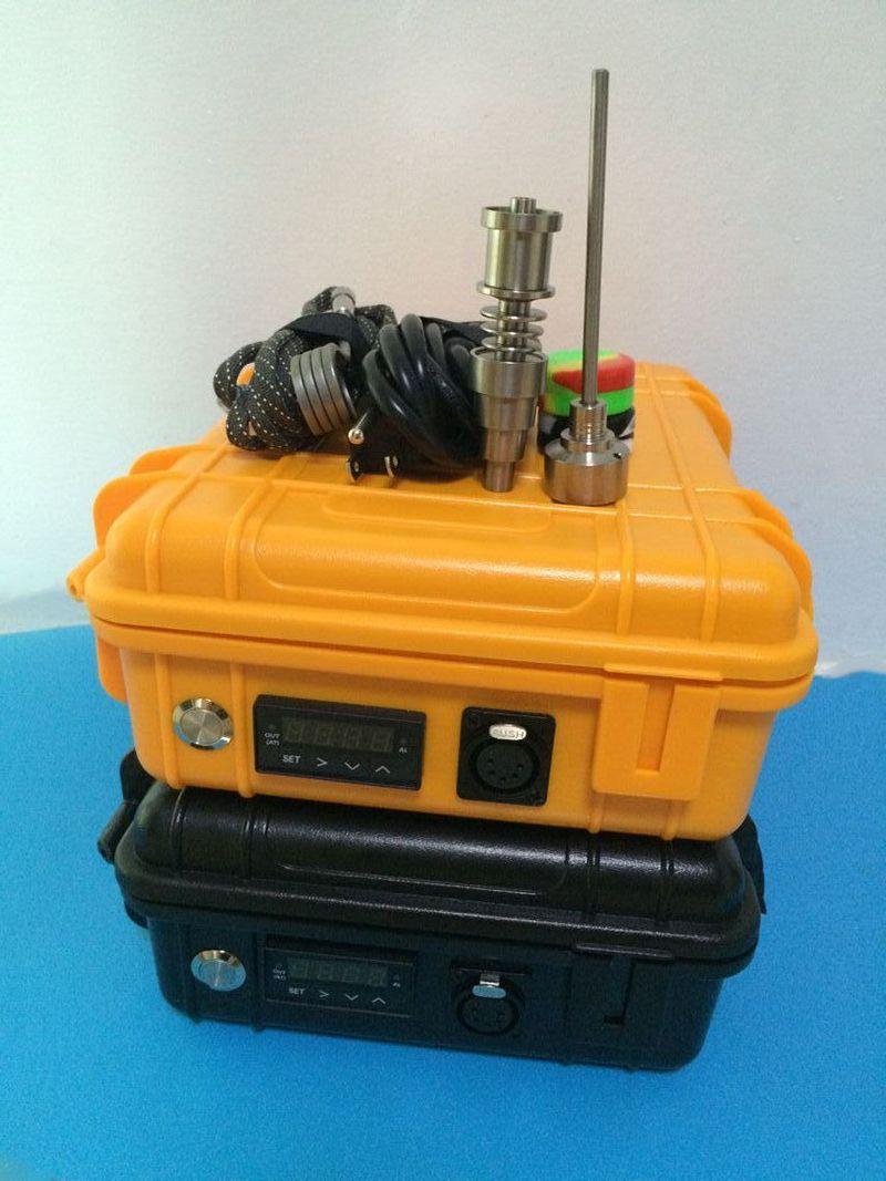 Günstigstes E Nail Pelican Elektro-Tupfer Nagel ENAIL Controller Wachs PID TC Box mit 10mm / 16mm / 20mm domeless Heizwendel Dnail