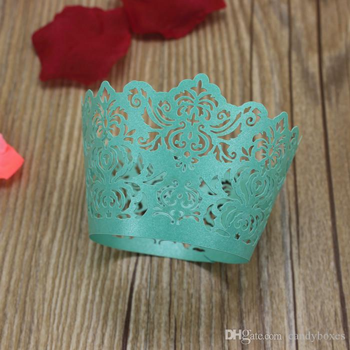 Tiffany cupcake wrapper party cake accessory festival birthday baby shower cupcake decorative paper mufflin cupcake box