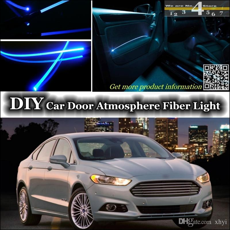 For Ford Fusion Interior Light Tuning Atmosphere Fiber Optic Band Ambient Light Inside Door Cool Strip Light Refit & 2018 For Ford Fusion Interior Light Tuning Atmosphere Fiber Optic ... azcodes.com