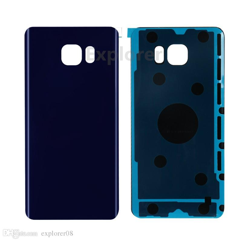 Pil Kapı Arka Kapak Cam Konut + Yapıştırıcı Sticker Samsung Galaxy S7 S6 kenar Artı G925 G930 G935 Not 5 N920 50 Adet / grup