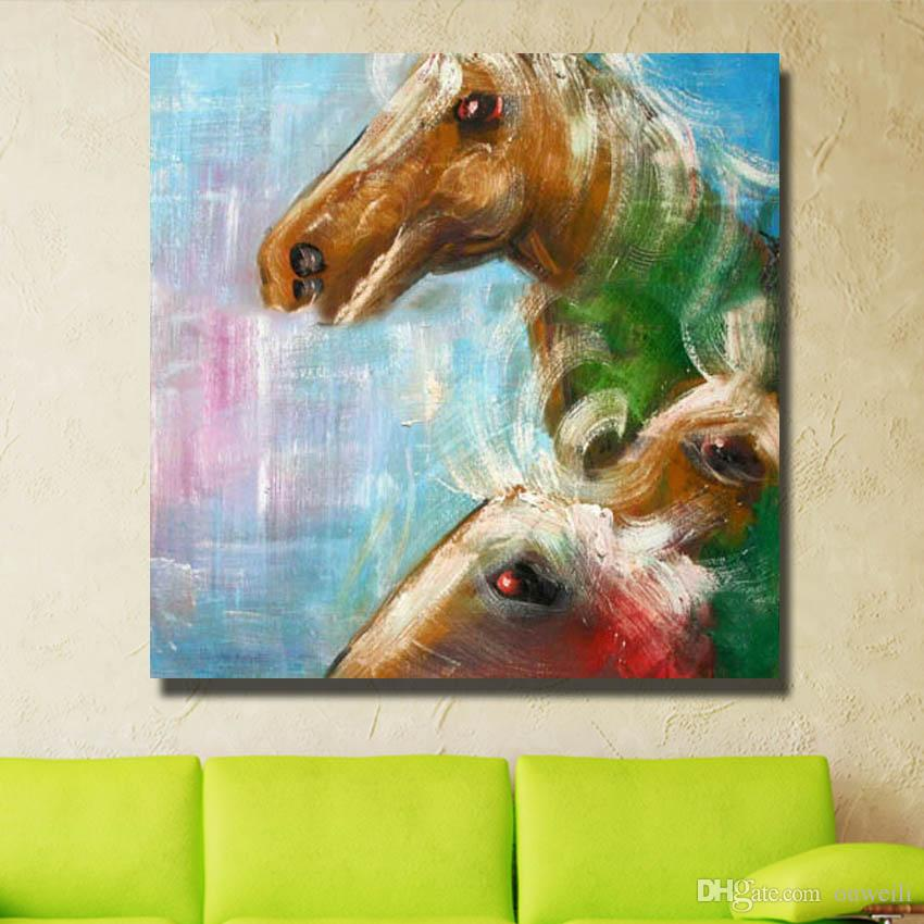 hand painted chinese horse oil painting top quality cheap price dropshipping bedroom canvas art