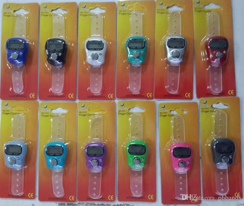 1011 Digital Finger Hand Ring Tally Counter LCD Electronic electronic Tally Counters Multi-Color Muslim Finger Ring Tasbeeh Tasbih Temple