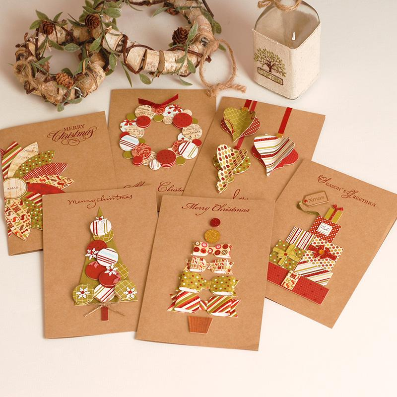 2017 vintage paper 3d chirstmas greeting cards handmade kraft christmas cards business gift animated christmas cards animated greeting card from hopestar168 - Holiday Cards 2017