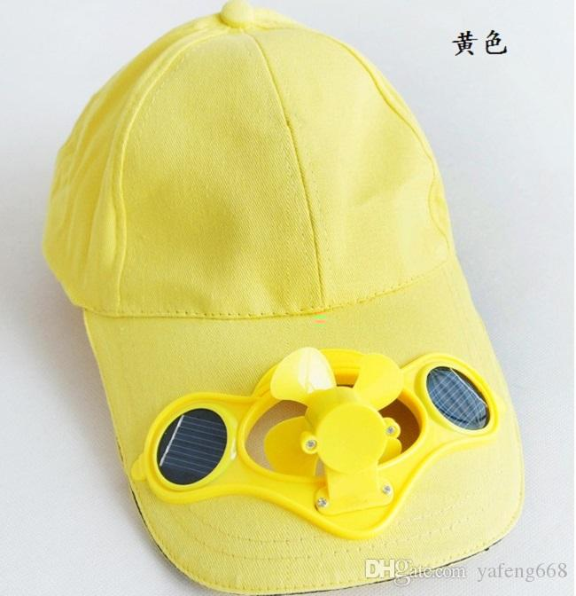 Solar Fan With Hat Korean Wave Of Adult Men And Women Sun