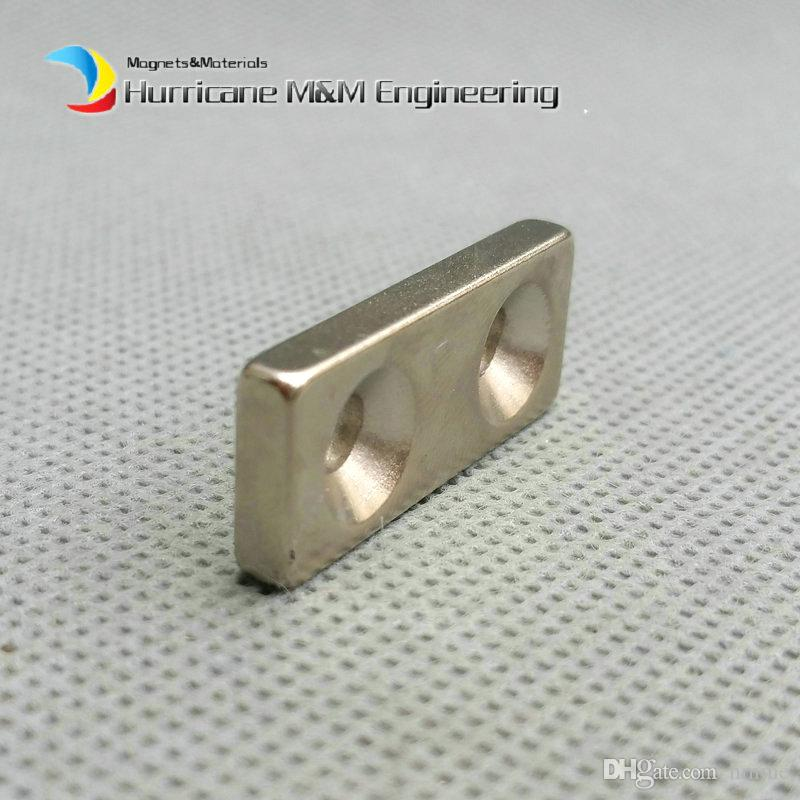 NdFeB Fix Magnet 28x12x4mm with M5 Screw Countersunk Hole Block N42 Neodymium Rare Earth Permanent Magnet