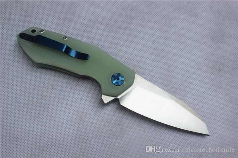 envío ree, cuchilla plegable ZT0456 de alta calidad, hoja: D2 Mancha, mango Jade G10, herramientas de mano para acampar al aire libre, venta al por mayor, regalos