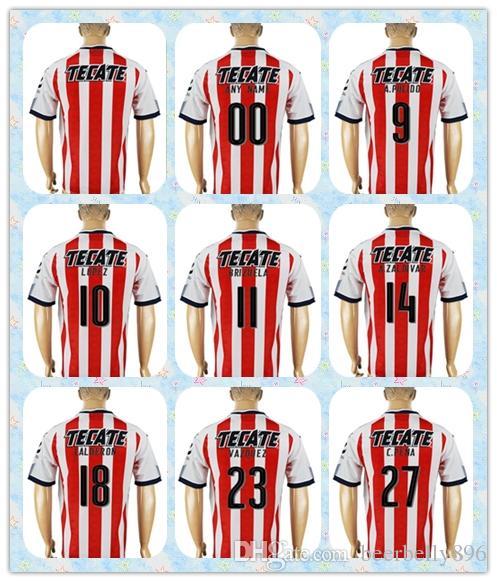 Fast Thai 2017 2018 Soccer Jersey Chivas Guadalajara  10 Lopez  11 Brizuela   18 Calderon  27 C.Pena  9 A. Pulido Home Red Jerseys UK 2019 From  Beerbelly896 29176adcd568