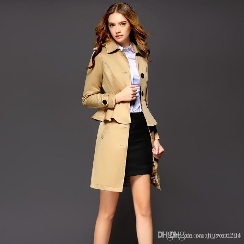 Trench Design Autumn Coats Femmes Blouse Acheter New Tight Slim 2016 pUOwntxRI