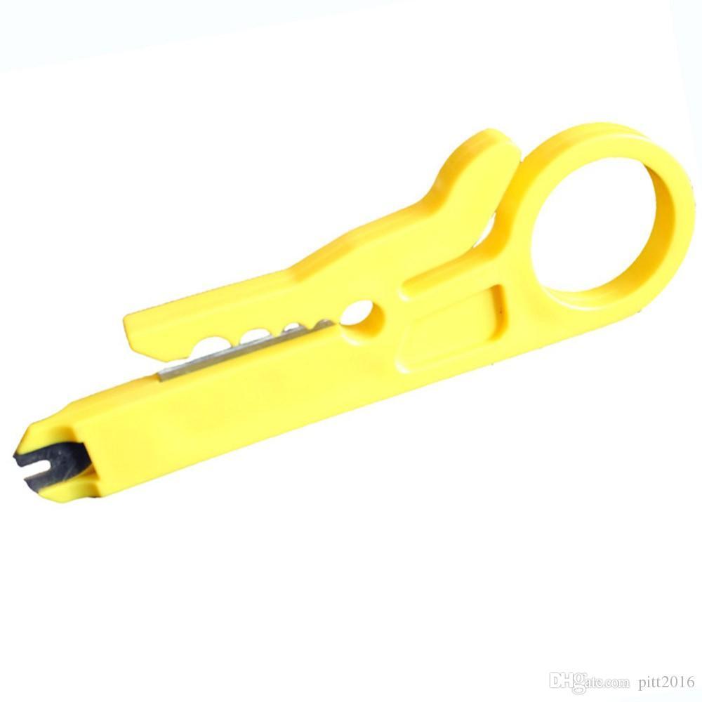 Haute qualité rotative Punch Down Network UTP câble coupe Stripper RJ45 Cat5 RJ12 RJ11 CAT-5e CAT-6 câble Punch Down Tool