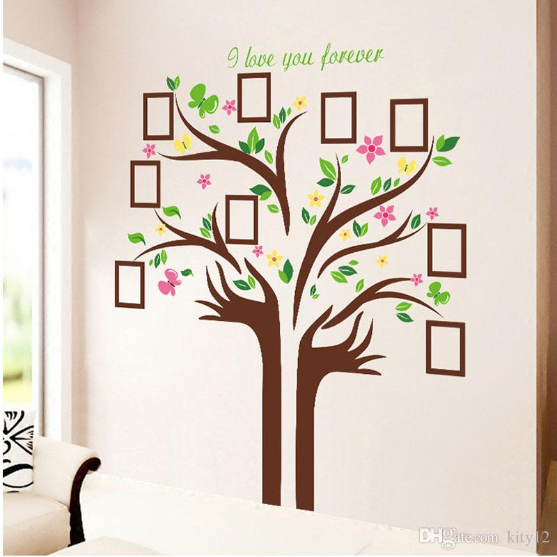 Large Size Family Photo Frames Love Tree Wall Stickers Diy Home Decoration Wall  Decals Modern Art Murals For Living Room Sticker Wall Decals Sticker Wall  ... Part 70