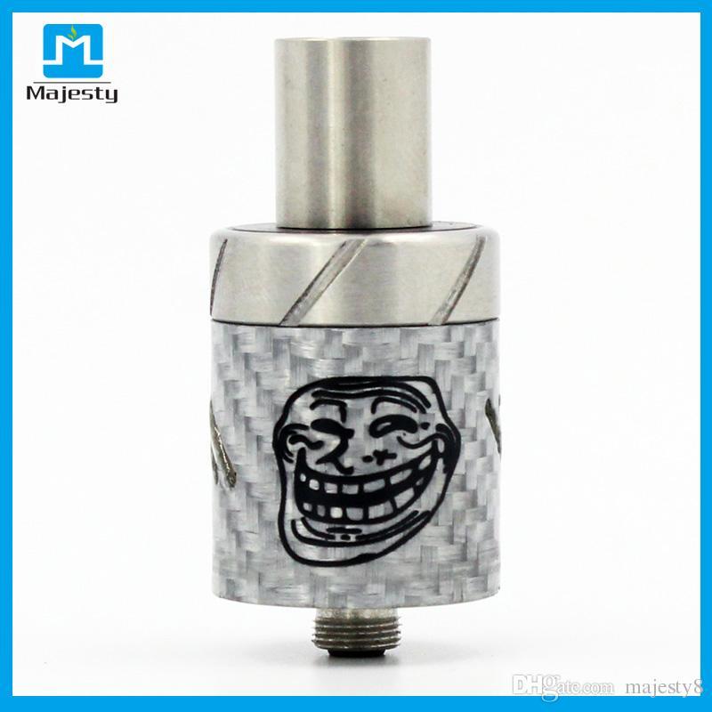 Le plus chaud Atomiseur de sourire Mad Hatter RDA Drip Tips Atomiseur électronique de cigarettes RDA 22mm Coloré Mad Hatter Rda pour mod VS Dark Horse RDA