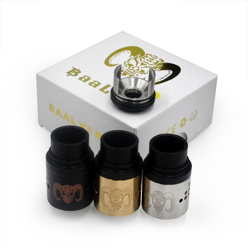Baal V3 RDA Atomizer Rebuildable Dripping Clone Baal 3.0 Airflow Control Peek Insulators fit 510 E Cigarette DHL Free