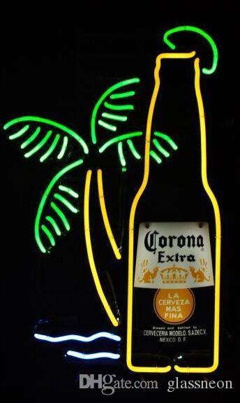 2019 New Corona Extra Bottle Light Glass Neon Sign Light