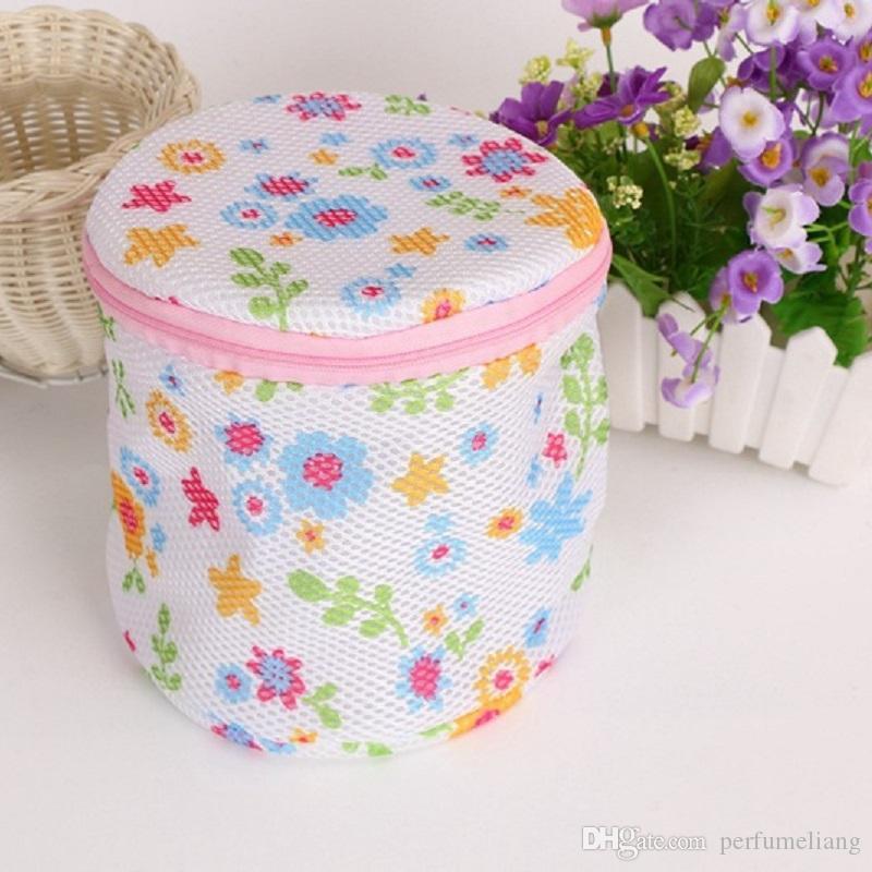 200 stücke 16X17 cm Bunte Frauen Bh Wäschesäcke Dessous Waschen Strumpfwaren Schoner Schützen Hilfe Mesh Tasche Cube ZA0840