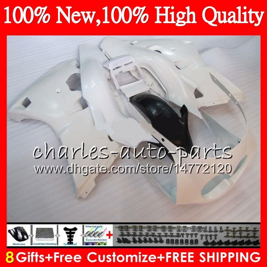 Corps Pour Pour YAMAHA FZR250R 86 87 88 89 FZR250 R Blanc brillant Carrosserie HM.1 FZR 250 R FZR 250R 1986 1987 1988 1989 Kit de carénage Gloss blanc