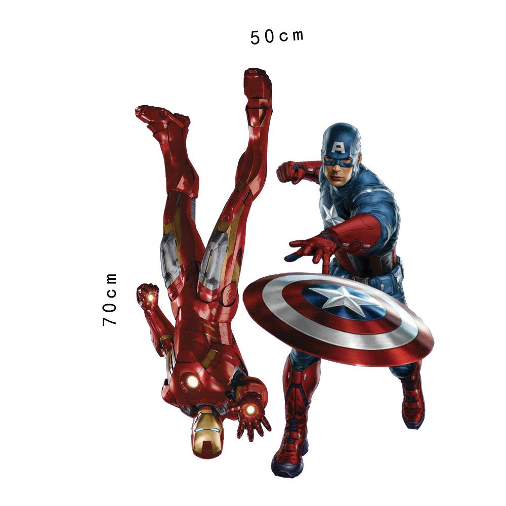 Marvelu0027S The Avengers Iron Man Captain America Wall Sticker Decals For Kids  Room Home Decor Wallpaper Poster Nursery Wall Art Quotes Stickers For Walls  ... Part 36