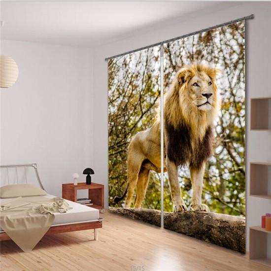 3d curtains for living room bedroom lion window curtain for M s living room curtains