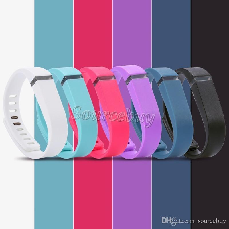 Fitbit Flex Band Большой Малый размер замена с металлической застежкой резиновый ТПУ ремешок беспроводной деятельности браслеты спорт браслет бесплатно DHL