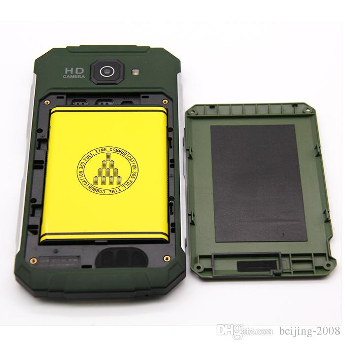 GuoPhone V9 IP68 Smartphone WCDMA 3G a 4 core Android 4.4 4GB con tecnologia antiurto impermeabile DHL Free